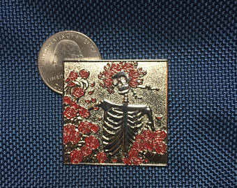 Grateful Dead New Bertha Square Hat Pin