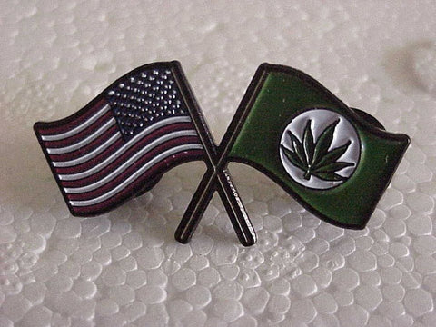 American Pot Flags Hat Pin
