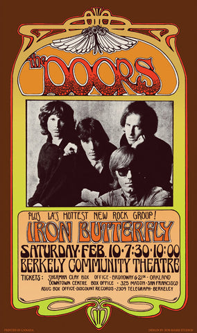The Doors Berkely Art Nouveau Poster