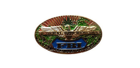 FBI Federal Bud Hat Pin