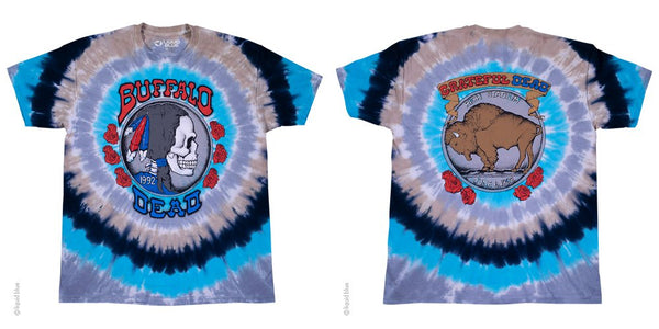 Mens Grateful Dead Tie-Dye Buffalo Nickel T-Shirt