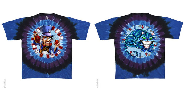 Mens Mad Hatter Tie-Dye T-Shirt