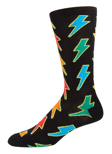 Mens Lightening Bolt Socks