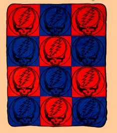 Steal Your Face Pattern Blanket