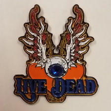 Live Dead Eyeball Wings Hat Pin