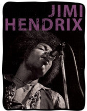 Jimi Hendrix B & W Fleece Blanket