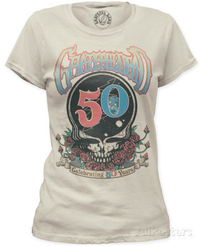 DISCONTINUED Grateful Dead Celebrating 50 Years Ladies T-shirt