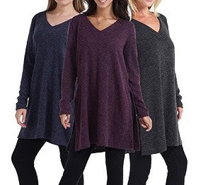 Acrylic Long Sleeve V Neck Sweater