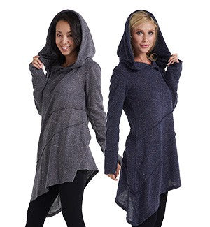 Acrylic Tunic With Hood