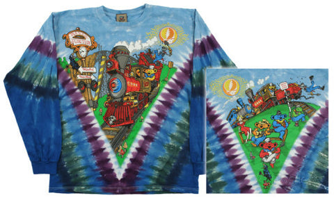 Grateful Dead Casey Jones Tie-dye LS T-shirt