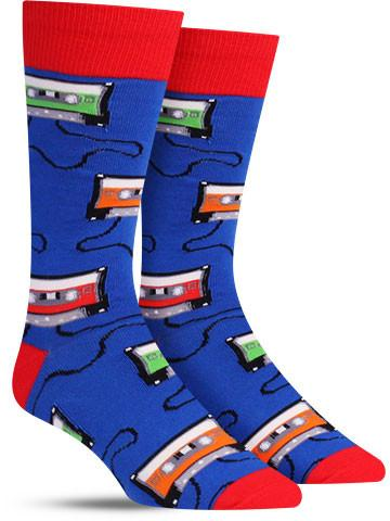 Mens Mix Tapes Crew Socks