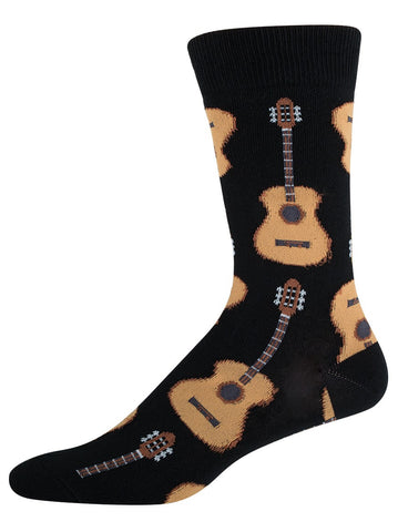 Black Guitar Mens Socks