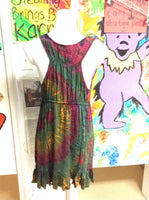 Tie Dye Drawstring Front Dress