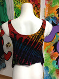 Womens Tie Dye Flowy Crop Top