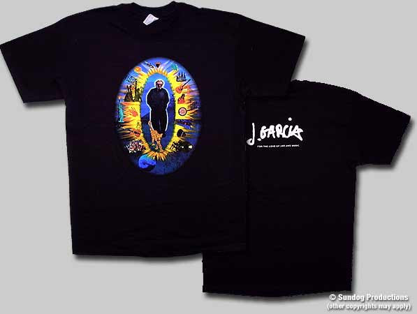 Jerry Collage Love of Art and Music Plain Tshirt