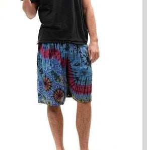 Men's Tie Dye Rayon Shorts