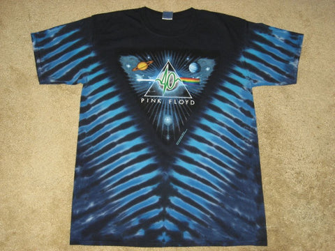 Mens Pink Floyd 40 Years Darkside Tie Dye T-shirt