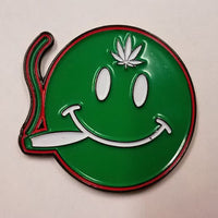 Smoking Smiley Hat Pin