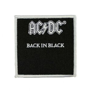 ACDC Back In Black Patch