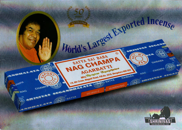 Satya Nag Champa Incense 3 pack (36 sticks)