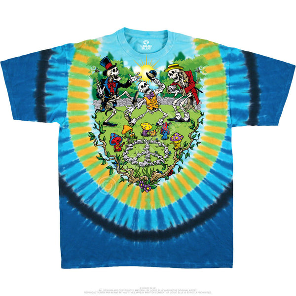 Mens Grateful Dead Shroomin' Tie Dye T-shirt