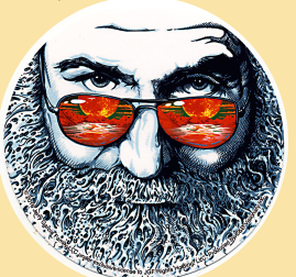 Jerry Garcia Face Sunset Glasses Sticker