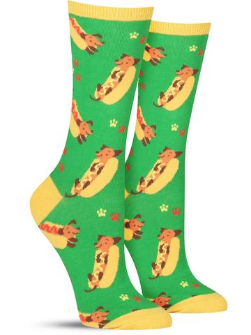 Women's Weiner Dog Crew Socks