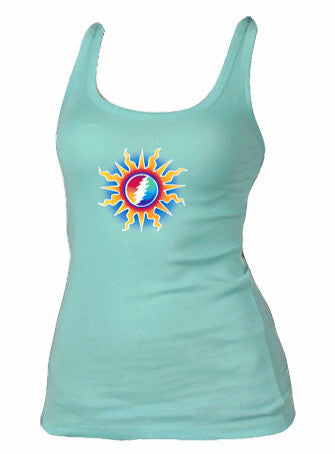 Grateful Dead Sunshine Bolt Womens Tank Top