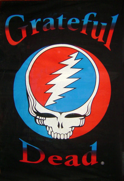 Grateful Dead Steal Your Face Tapestry Black/White
