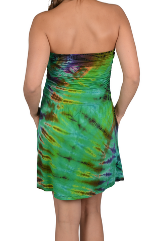 5f2b6d6f69 Short Mudmee Tie Dye Tube Dress with Pockets – HalfMoonMusic
