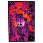 Autumn Wolf Blacklight Poster