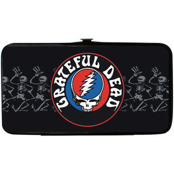 Grateful Dead Steal Your Face and Skeletons Hinged Wallet