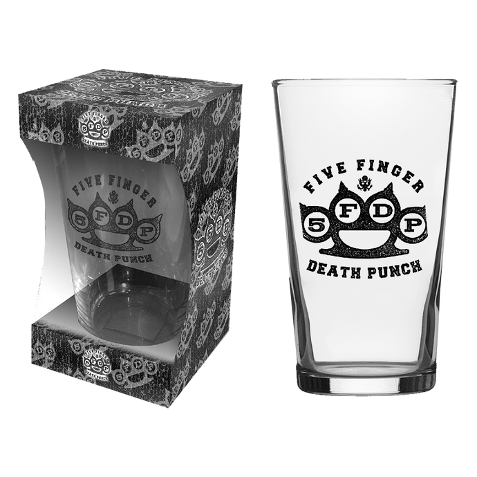 Knuckle Logo Beer Glass