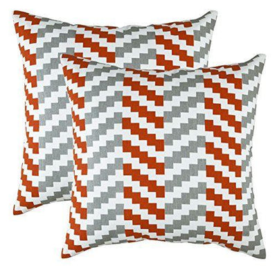 Stepped Chevron Accent Cushion Covers (Pack of 2) - TreeWool