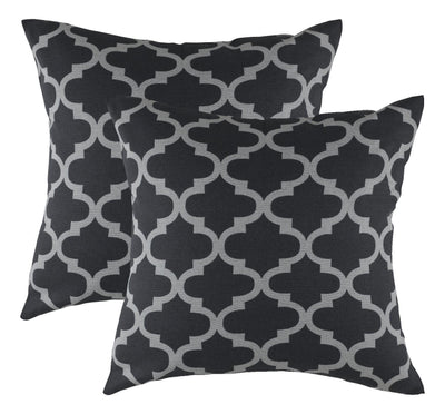 Trellis Accent Decorative Cushion Covers (Pack of 2) - TreeWool