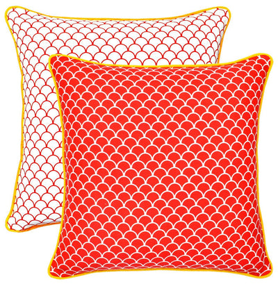 Scale Accent Decorative Cotton Cushion Covers (2 Pack) - TreeWool