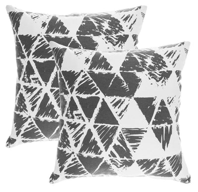 Ikat Triangle Accent Decorative Cushion Covers (Pack of 2) Seconds - TreeWool