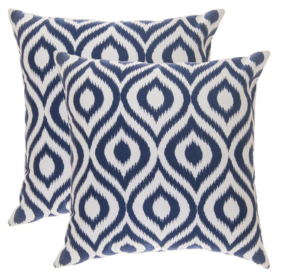 Ogee Ikat Accent Decorative Cushion Covers (Pack of 2) - TreeWool