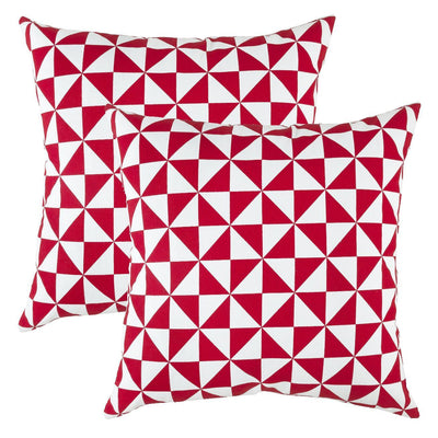 Windmill Accent Decorative Cotton Cushion Covers (Pack of 2) - TreeWool
