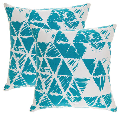 Ikat Triangle Accent Decorative Cushion Covers (Pack of 2) - TreeWool