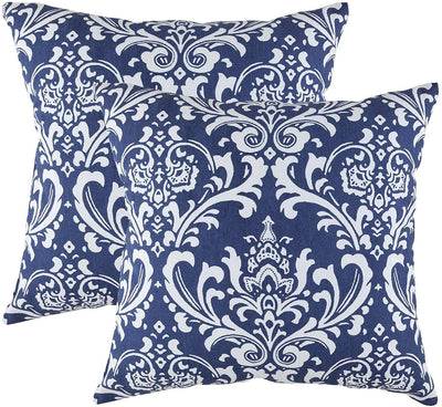 Damask Accent Decorative Cushion Covers (Pack of 2) - TreeWool