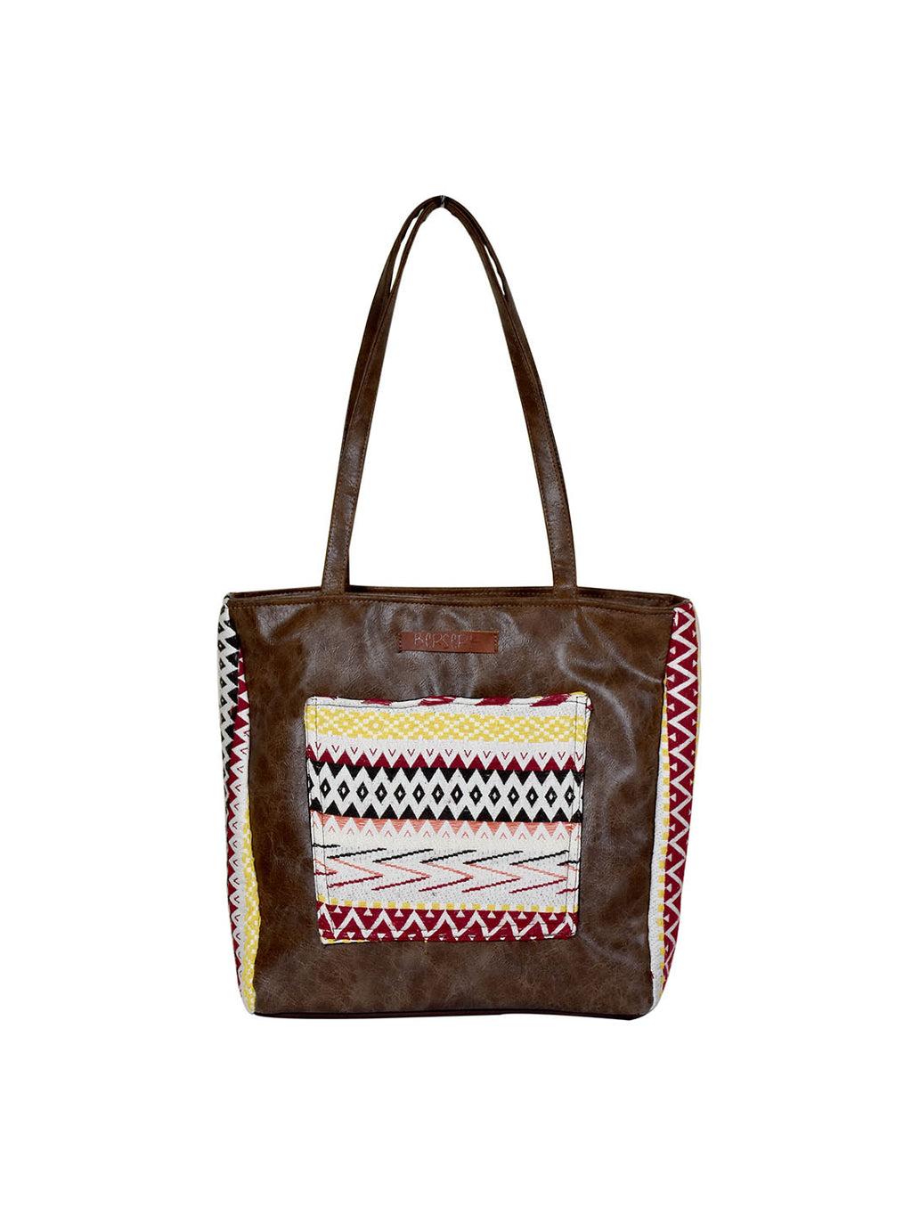 Tribal Weave Handloom Front Pocket Tote