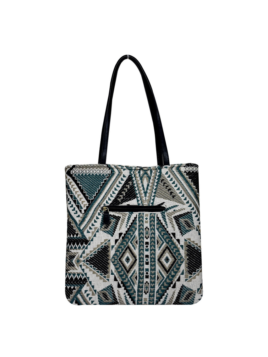 Berserk Teal Tribal Handloom Shopper Tote