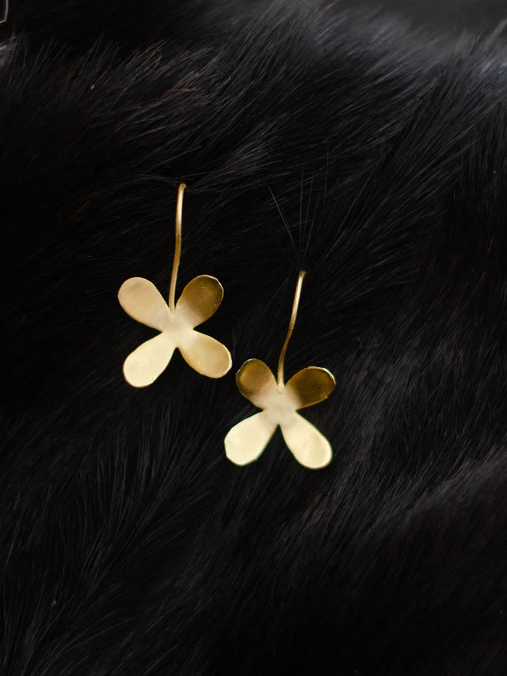 Gold Plated Clover Loops