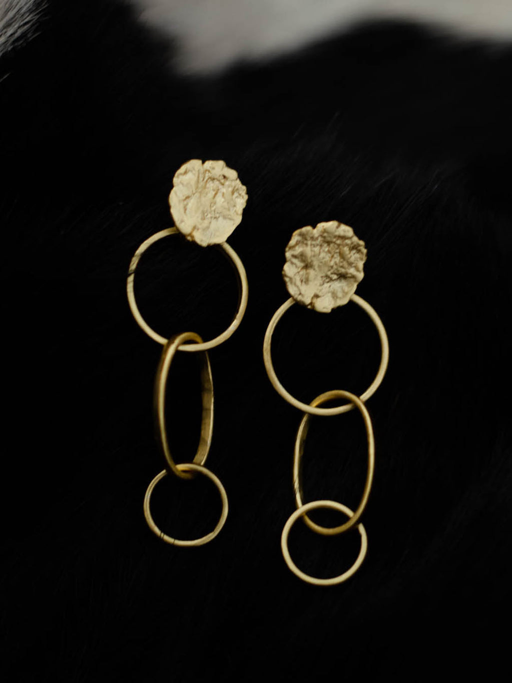 Gold Plated Chain Link Earrings
