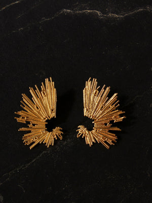 Gold Plated Abstract Cuffs