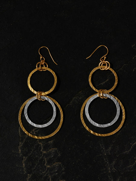 Gold-Silver Plated Ring Danglers