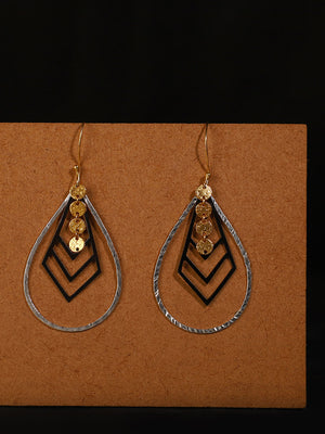 Gold-Silver Plated Teardrop Loops