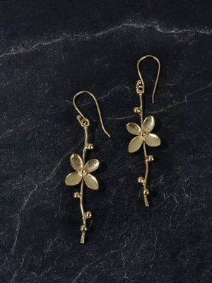 Gold Plated Floral Vine Loops