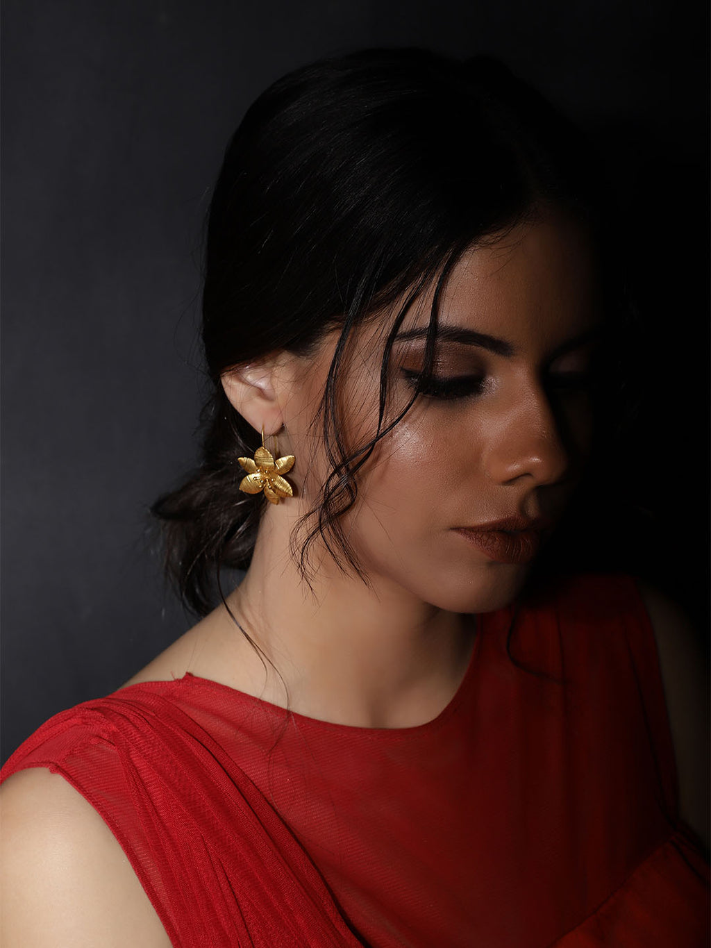 Gold Plated Lily Loops